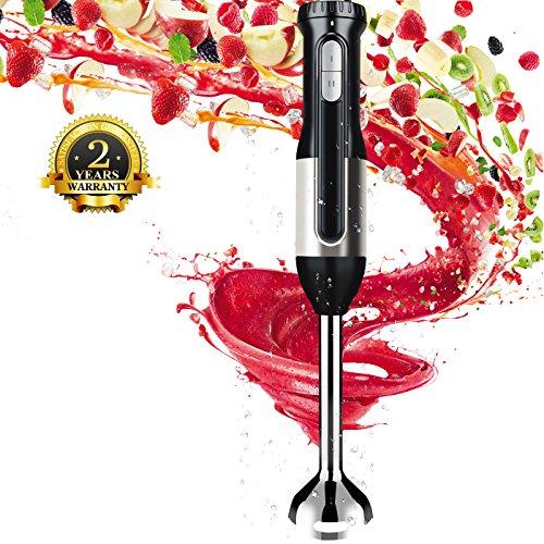 Sweet Alice Stabmixer Stabil Edelstahl Pürierstab mit 2 Geschwindigkeitsstufen Inklusive Turbo-Funktion,BPA-frei,Abnehmbar für Spülmaschinenfeste mit 600W