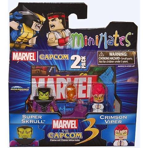 Marvel Vs Capcom 3 Minimates Serie 2 Mini Figura 2Pack Súper Skrull vs Carmesí Viper