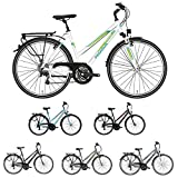 Pegasus Piazza Trapez 21 Gang Damenfahrrad Trekking Fahrrad 2018, Rahmenhöhe:50 cm, Farbe:weiß