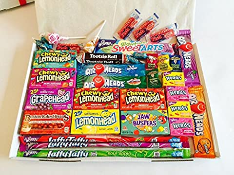 American Sweets Hamper Perfect Candy Gift includes Airheads Tootsie Wonka Laffy Taffy Nerds, Perfect Gift or Present for children and adults. NL1206. ONLY BUY FROM QUEENS OF CANDY IF YOU WANT TO RECEIVE THE ITEM IN THE PICTURES AND AS DESCRIBED IN THE DESCRIPTION!