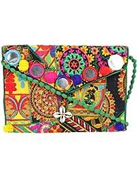Rajasthani Jaipuri Bohemian Art Sling Bag Foldover Purse - B07FN1ZND6