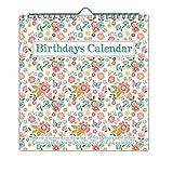 Jodds Everlasting Peach Floral Birthdays Calendar
