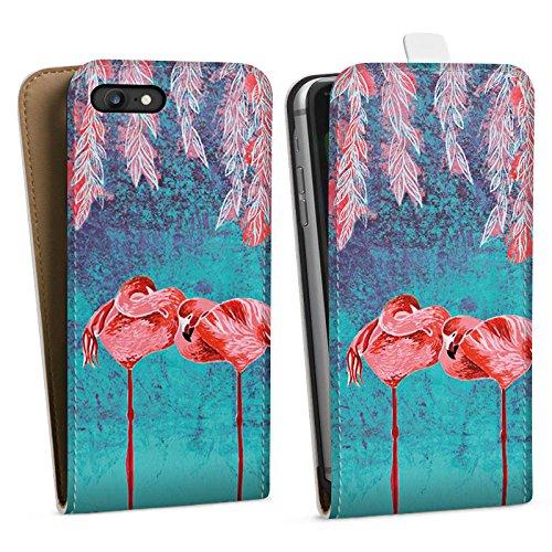 Apple iPhone X Silikon Hülle Case Schutzhülle Sommer Flamingos Pink Downflip Tasche weiß
