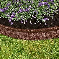 Flexiborder - Bordillo flexible de jardín para césped, resistente a la intemperie, protector para la cortadora de césped - 6 unidades de 1 m de longitud (varios colores)