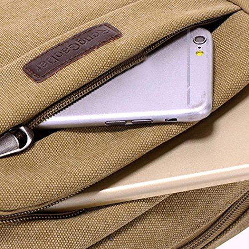 """BZLine® Männer Handtasche Schultertasche Outdoorsport Leinentasche Tasche , 24cm*18cm/9.4*7.1"""" Khaki"""