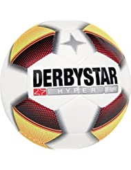 Derbystar Ballon de football Hyper S Light, les enfants d'entraînement, Football Taille 3–4 (290 g), blanc rouge jaune noir, 1012