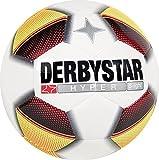 Derbystar Fußball Hyper S-Light, Kinder Trainingsball, Ball Größe 4 (290 g), weiß rot gelb schwarz, 1012