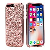 Coque iPhone 7 Plus / 8 Plus,Surakey Paillette Diamant Strass Brillante Bling Glitter...