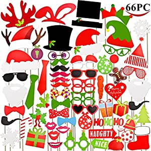 Buy joyin toy 66 pieces christmas photo booth props for - Buy christmas decorations online india ...
