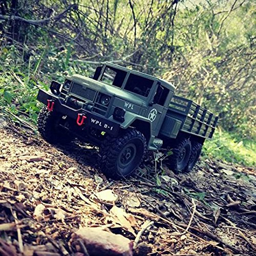 Zantec Remote Control Military Truck 6 Wheels Drive Off-Road RC Model Car Remote Control Climbing Toy Gift-2.4G
