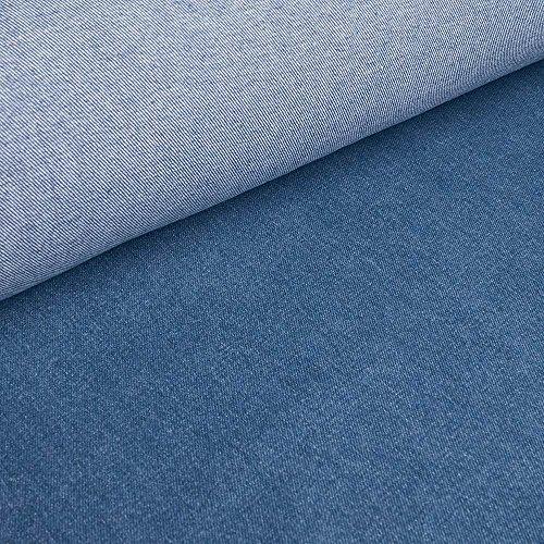 Jeany - 10oz Denim / Jeansstoff gewaschen - 100% Baumwolle - Köperbindung (blau) (per Meter) (Denim-stoff Stonewashed)