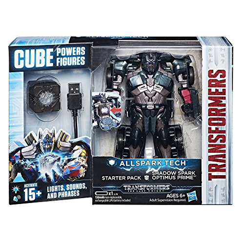 4-autos Transformers (Hasbro Transformers C3480ES0 - Movie 5 All Spark Tech Starter Set Shadow Spark Optimus Prime, Actionfigur)