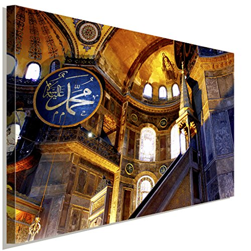 Hagia-Sophia Istanbul Islam Cami Leinwandbild LaraArt Studio Wanddeko Wandbild 40 x 30 cm (Sophia Cami)