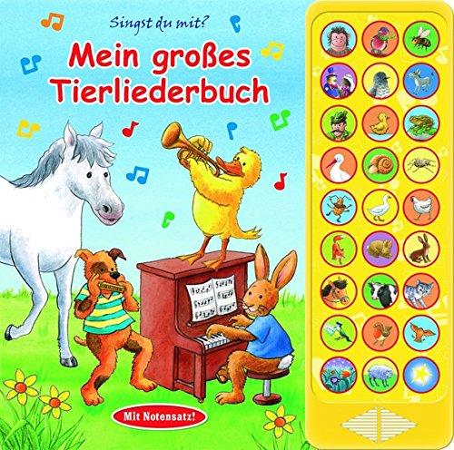 27-Button-Soundbuch - Mein großes Tierliederbuch - 27 bekannte Kinderlieder zum Mitsingen
