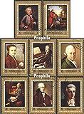 Prophila Collection Ajman 1328A-1335A (kompl.Ausg.) 1972 Wolfgang Amadeus Mozart (Briefmarken für Sammler) Musik / Tanz