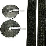 10M Velcro banda Juego de mountaing Ecomoods | 20mm de ancho | autoadhesiva | 1x gancho de banda (10M) y 1x Tira (10M), con una fuerte superficie adhesiva para diferentes superficies