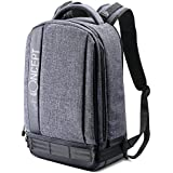 """K&F Concept Lightweight DSLR Camera Backpack Water Resistant Nylon Multipurpose Bag For Canon Nikon Fuji And Other Cameras Laptop Ipad - Light Grey(17.32 * 6.30 * 11.42"""")"""