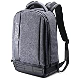 K&F Concept Lightweight DSLR Camera Backpack Water Resistant Nylon Multipurpose Bag for Canon