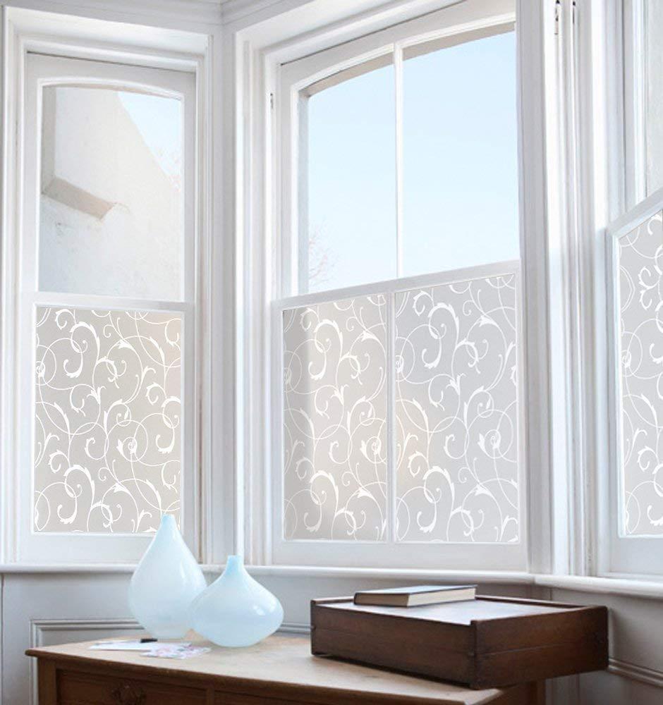 Rabbitgoo pellicola smerigliata per finestre vetri fiori - Vetri per finestre ...