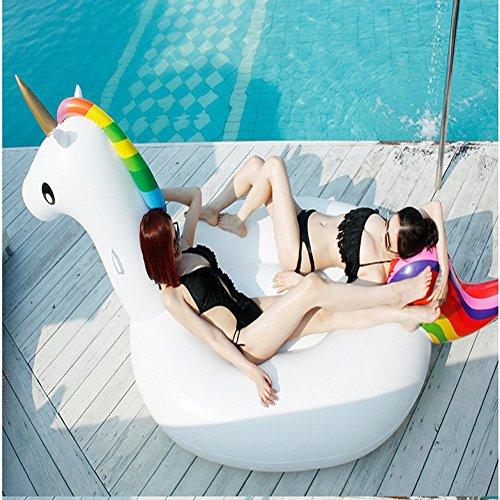 Preisvergleich Produktbild 275*140cm*120cm Aufblasbare Schwimmbecken Pool PVC Material Allgemein Erwachsene Kinder Schwimmen Ring Wasser Erholung Freizeit Stuhl Sport Outdoor Spielzeug Raft Lounger Small (Einhorn 275cm)