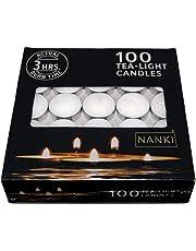 Bliss Tea-Light Candles, White, 3.7 cm x 1 cm