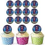 Barcelona Fútbol camisas 30personalizado comestible cupcake toppers/adornos de tarta de cumpleaños–fácil troquelada círculos