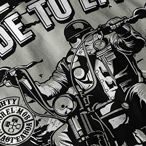 Vivre À Balade Biker Slogan Femme S-2XL Sweat-shirt   Wellcoda Noir