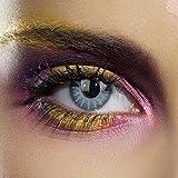 81535 COLOUR VISION CRAZY SOLAR BLUE gefärbte Kontaktlinsen, Kontaktlinsen, Farbspaß, Top-Qualität - Inklusive kostenlosen Linsenbehälter.