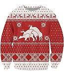 BFUSTYLE 3D Hässlich Weihnachten Pullover Jacke aktive Bewegung