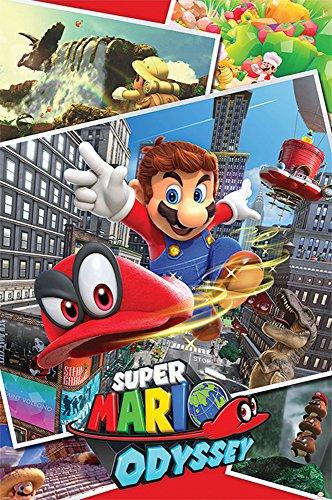 Nintendo - Poster - Super Mario Odyssey - Collage + Ü-Poster
