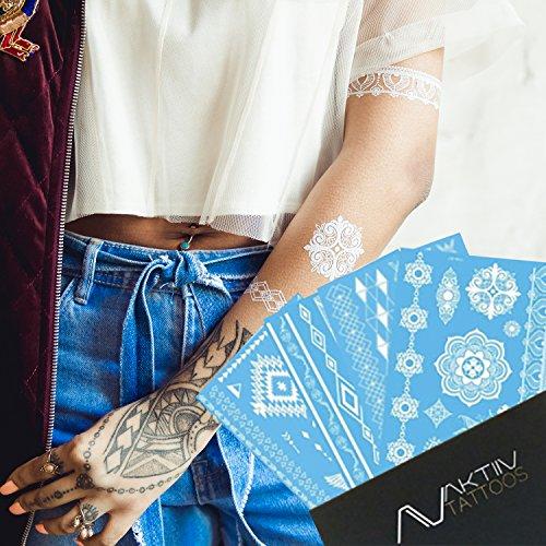 aktiiv-tatuaggi-tatuaggi-temporanei-metallic-da-incollare-sulla-pelle-white-edition