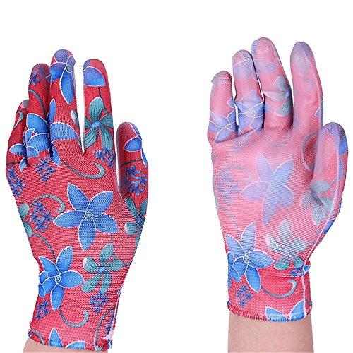 LINGloves Arbeitshandschuhe Gloves Gardening Supplies Garten Breathable haltbare PU getaucht für die häusliche Pflege Gartenhands, Gartenhandschuhe