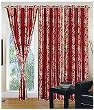 Kanha 3 Piece Polyester Floral Window Cu...