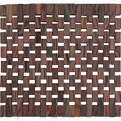 Creative Tops - Salvamanteles (madera, 2 unidades), diseño de celosía, color oscuro