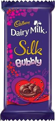 Cadbury Dairy Milk Silk Bubbly Valentine Chocolate Bar, 2 x 120 g