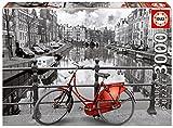 Educa 16018 - Puzzle - Amsterdam, schwarz/weiß koloriert, 3000-Teilig