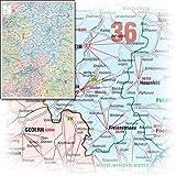 BACHER Postleitzahlenkarte Hessen Maßstab 1:160 000, Sonderausgabe als großformatiger Digitaldruck, Papierkarte gerollt: 1- und 2-stellige ... und Gewässernetz dezent im Hintergrund