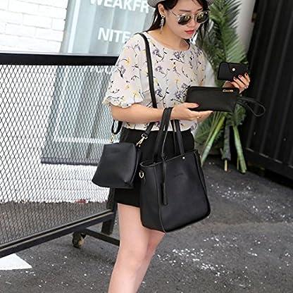 Handbag, Shoulder Bags,TUDUZ Women Fashion Casual Four Set tassel Handbag Shoulder Bags Four Pieces Tote Bag Messenger… 6