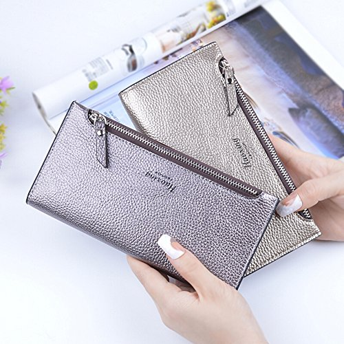 Ulisc Fashion Women Wallet Zipper Clutch Purse Lady Long Handbag Bag Red