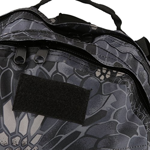 3D 40l Wasserdichter Taktischer Militärischer Rucksack Tasche Wanderrucksack Outdoor Reisen Python Schwarz