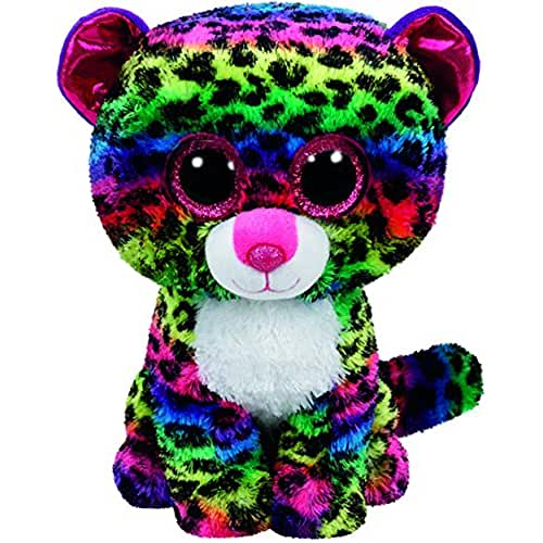 peluches TY - Beanie Boos Dotty, leopardo, 15 cm, multicolor (United Labels Ibérica 37189TY)
