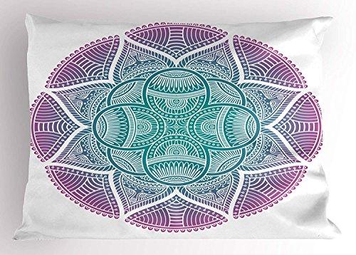 (YISUMEI Kissenbezug Kissenhülle 40x80 cm Home Decor Dekokissen Fall Sofa Werfen Kissenbezüge Pillowcases Ethnische Abstrakte Blumen Stammes Punkte und Skalen nahöstliche Motive)