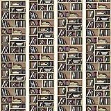 murando - PURO TAPETE - Realistische Tapete ohne Rapport und Versatz 10m Vlies Tapetenrolle Wandtapete modern design Fototapete - Bücherregal Buch Bibliothek i-B-0041-j-a