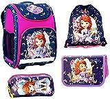 Sofia die erste Schulranzen Mädchen 1 Klasse Tornister Schulrucksack Schultasche SET 4 teilig für Grundschule super leicht 850g