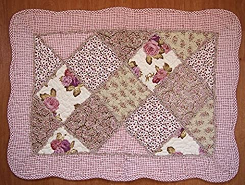 Shabby Chic Vintage Style Pink Floral Patchwork Quilted Cotton Bedroom
