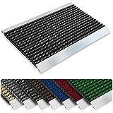 Repräsentative Fußmatte Profi Brush - Testurteil Sehr Gut - Schmutzfangmatte mit Alu Rahmen für außen und innen - verschiedene Bürsten Farben und Größen ( 40x60cm Schwarz )