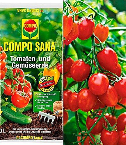 """Snack-Tomate""""Romello"""" F1 & COMPO SANA® Tomaten- und Gemüseerde,1 Set"""