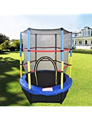 Greenbay 55inch 4.5FT Kid Indoor Outdoor Trampoline Set with Skirt and Safety Net
