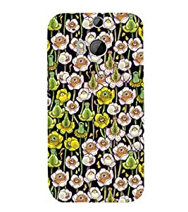 Flowes in Pond Floral 3D Hard Polycarbonate Designer Back Case Cover for HTC One M8 :: HTC M8 :: HTC One M 8