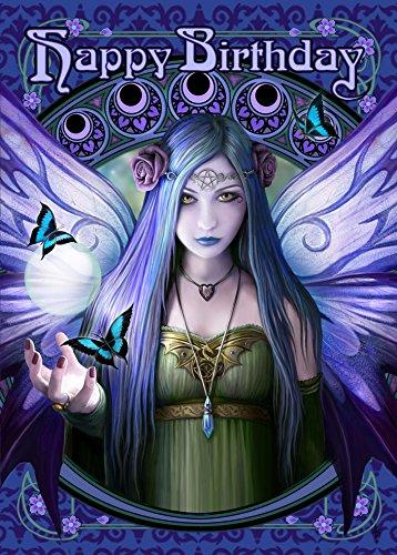 Aura Pendelleuchte (Anne Stokes Fantasy Art Nouveau Pendelleuchte Feen Mystic Aura Glückwunschkarte Geburtstag)